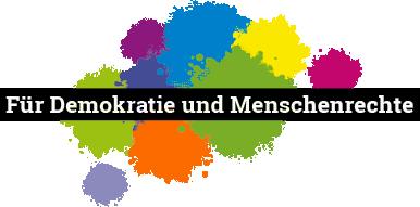 Für Demokratie und Menschenrechte Logo